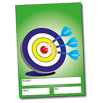 Set of 4 Personalised A5 Green Target Certificates