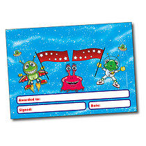 Set of 4 Personalised A5 Alien Certificates