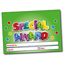 Set of 4 Personalised A5 Green Special Award Certificates