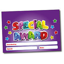 Set of 4 Personalised A5 Purple Special Award Certificates