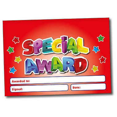 Personalised Special Award Certificate - Red (A5)