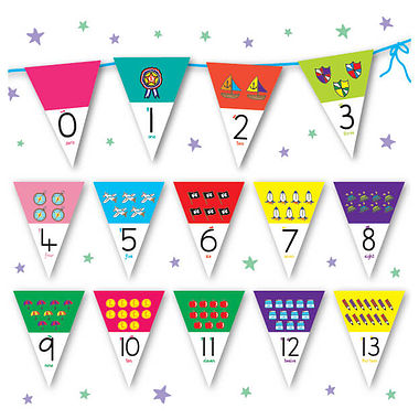Pedagogs Number Bunting (Numbers 0-20)