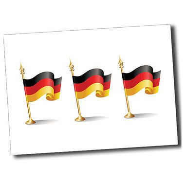 Personalised German Flag Postcard - White (A6)