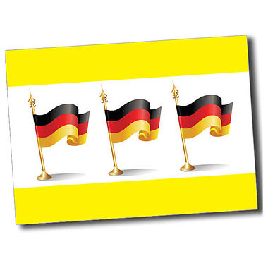 Personalised German Flag Postcard - Yellow (A6)