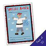 Pack of 20 -Special Award - Pirate - A5 Cert Pedagogs