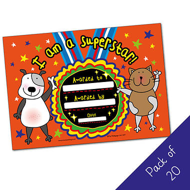 I am a Superstar Certificates - Pedagogs (20 Certificates - A5)