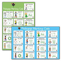 A2 Pedagogs Marking Code Double Sided Paper Poster