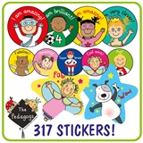 EYFS Pedagogs Stickers Value Pack (281 Stickers)