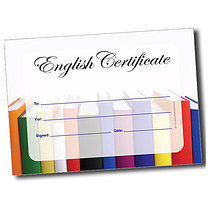 A5 Personalised Books English Certificate