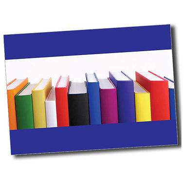 Personalised Books Postcard - Blue (A6)