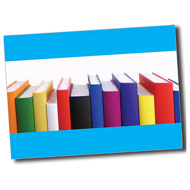 Personalised Books Postcard - Cyan (A6)