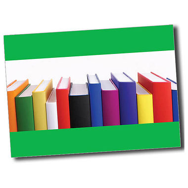 Personalised Books Postcard - Green (A6)
