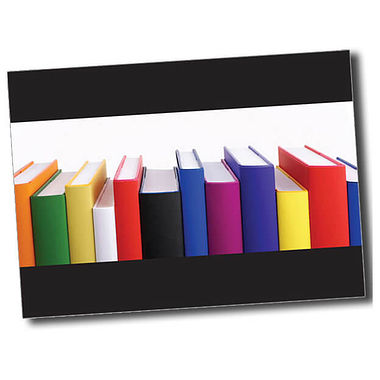 Personalised Books Postcard - Black (A6)