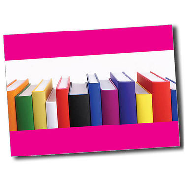 Personalised Books Postcard - Pink (A6)