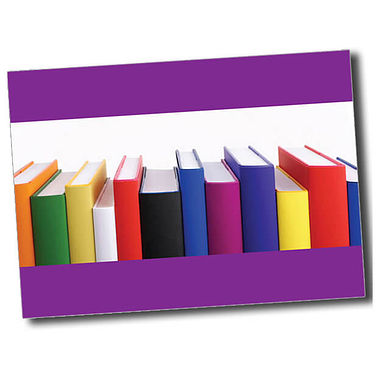 Personalised Books Postcard - Purple (A6)