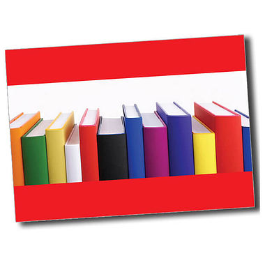 Personalised Books Postcard - Red (A6)