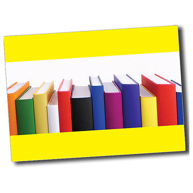 Personalised Books Postcard - Yellow (A6)