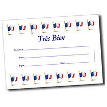 Personalised A5 French Tres Bien Certificates