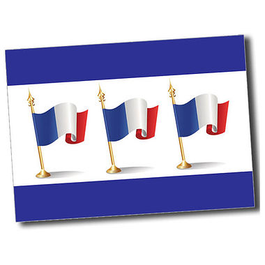 Personalised French Flag Postcard - Blue (A6)