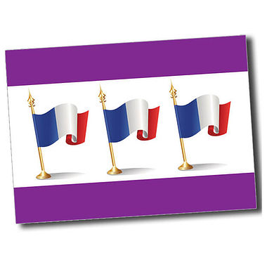 Personalised French Flag Postcard - Purple (A6)