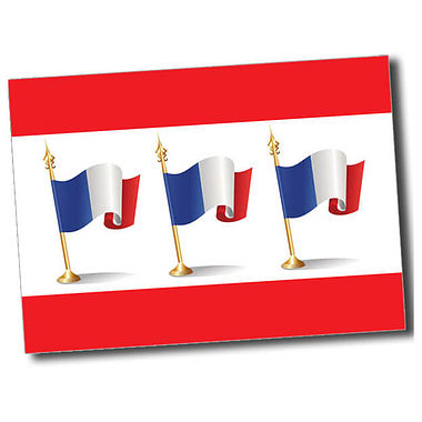 Personalised French Flag Postcard - Red (A6)