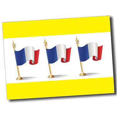 Personalised French Flag Postcard - Yellow (A6)