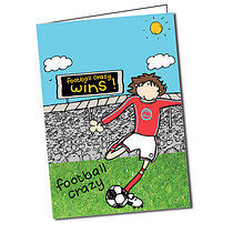 Personalised Bang on the Door Football Crazy Greeting Card