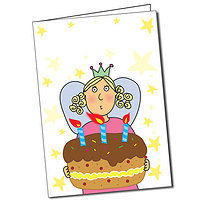 Personalised Pedagogs Fairy Birthday Cake A5 Greeting Card