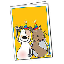 Personalised Pedagogs Pets A5 Greeting Card