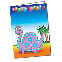Personalised Dinosaur A5 Greeting Card
