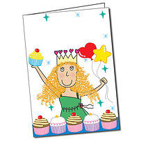 Personalised Pedagogs Princess Cupcakes A5 Greeting Card