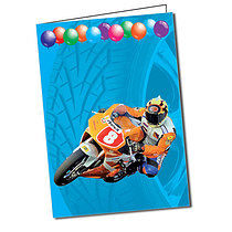 Personalised Motorbike A5 Greeting Card