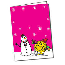 Personalised Little Miss Sunshine A5 Christmas Greeting Card