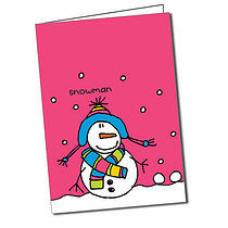 Personalised Bang on the Door Snowman Christmas Card