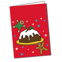 Personalised Pedagogs Christmas Pudding Greeting Card