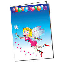 Personalised Fairy A5 Greeting Card