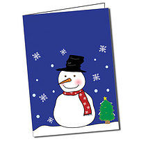 Personalised Pedagogs Snowman Christmas Greeting Card