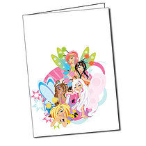 Personalised Secret Wings Group Greeting Card