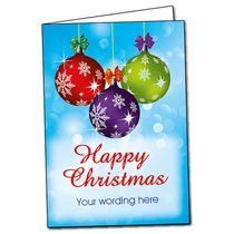 A5 Personalised Baubles Christmas Cards
