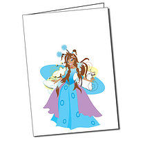 Personalised Secret Wings Tansy Greeting Card