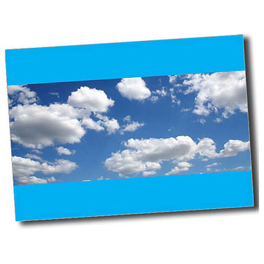 Personalised Blue Sky Postcard - Cyan (A6)