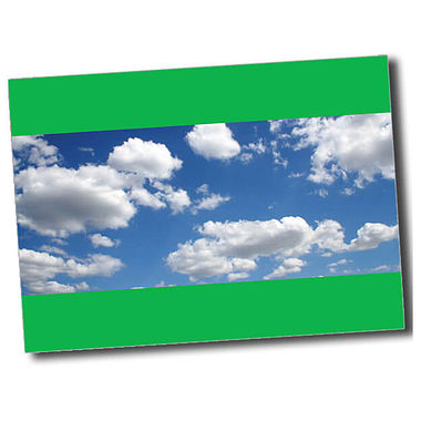 Personalised Blue Sky Postcard - Green (A6)