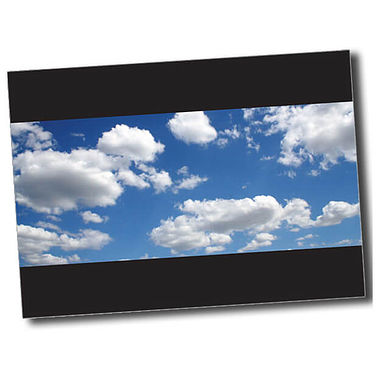 Personalised Blue Sky Postcard - Black (A6)