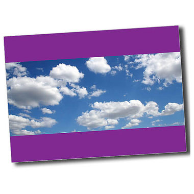 Personalised Blue Sky Postcard - Purple (A6)