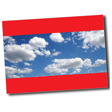 Personalised Blue Sky Postcard - Red (A6)