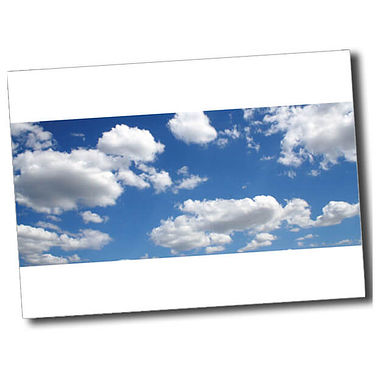 Personalised Blue Sky Postcard - White (A6)
