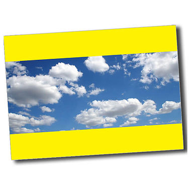 Personalised Blue Sky Postcard - Yellow (A6)