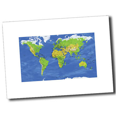 Personalised World Map Postcard - White (A6)