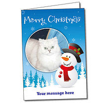Upload Your Own Snowman A5 Christmas Card