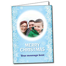 Upload Your Own Snowflake A5 Christmas Card